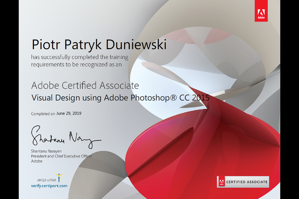Adobe Certified Associate - Piotr Duniewski
